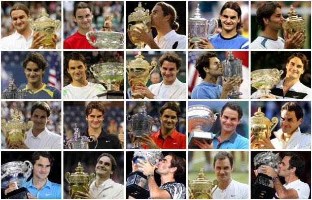 Les 20 Grands Chelems de Federer - Crédit photo