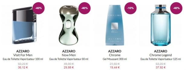 Parfums AZZARO en promotion