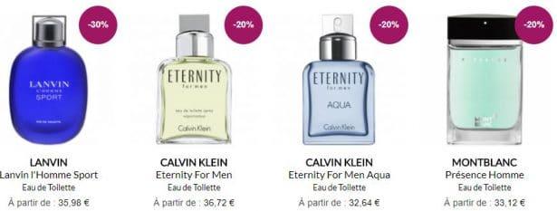 Parfums en promotion sur la parfumerie en ligne