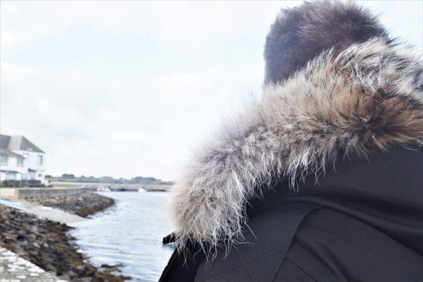 Test parka Nobis modèle Parka Yatesy avec capuche amovible bordée fourrure coyote amovible