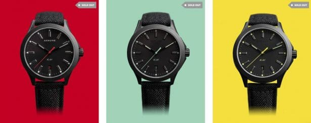 AKRONE K-01 cette montre automatique c'est vendue en quelques semaines seulement