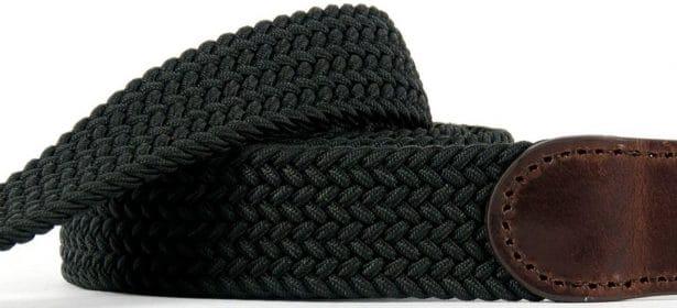 Sobre, élégante et toute en kaki, la ceinture tressée Billybelt