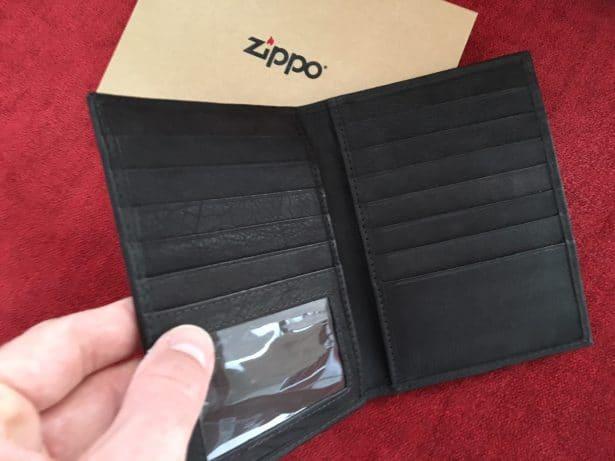 Porte-cartes en cuir Zippo