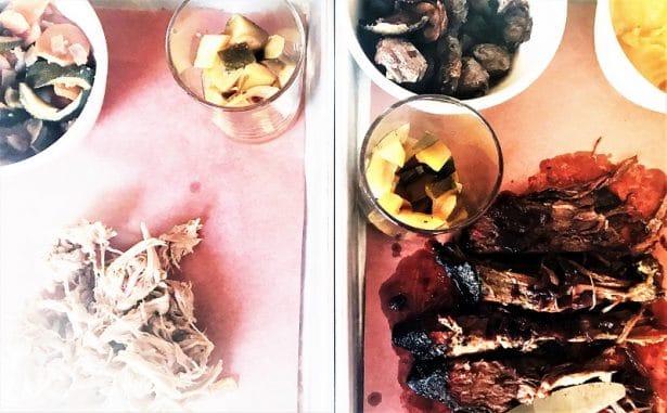 Le Rhino Rouge, commence par exciter nos papilles avec le Pulled Pork et Trip Tip vien