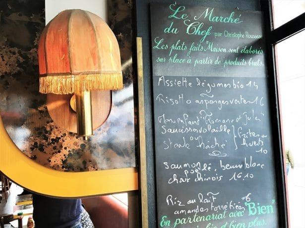 Le menu du jour du Chef Christophe Rousseau