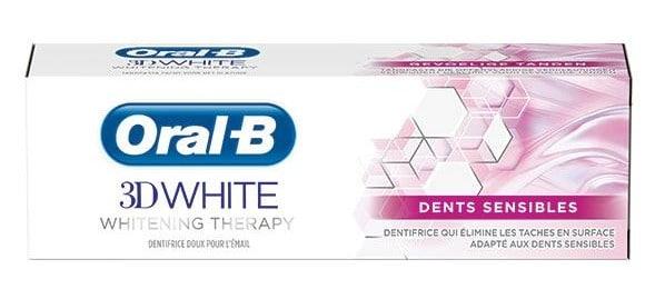 Dentifrice Oral-B - 3D White pour Dents Sensibles