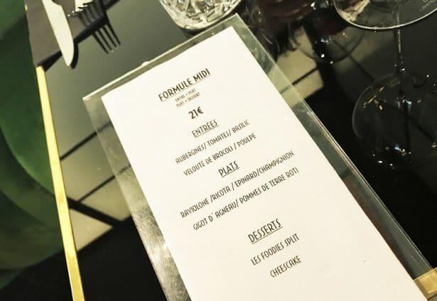 Formule midi à 21€ très bon rapport qualité prix au restaurant Les Foodies Paris