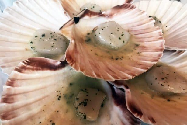 Les noix de Saint Jacques au naturel - Restaurant Le Duc