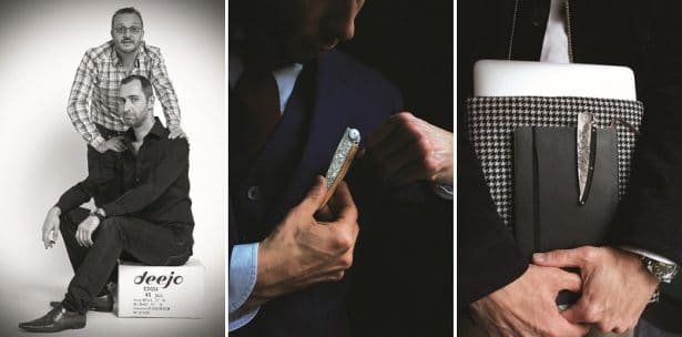 Luc et Stéphane ont créé un couteau de poche pratique et avec style ! Deejo