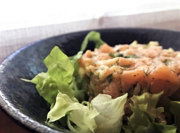 Un tartare de saumon aussi frais que bon ! - Restaurant Le Duc Paris