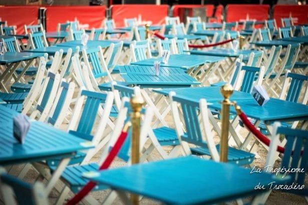 Le mobilier by City Green - Crédit photo Les Terrasses du Trocadéro