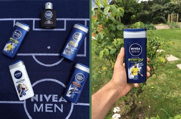 Nouveaux soins douche pour homme Nivea Men & PSG