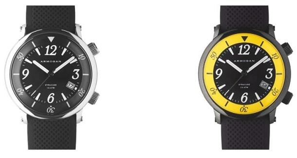 Syracuse, la première collection de montre aquatique d'Armogan