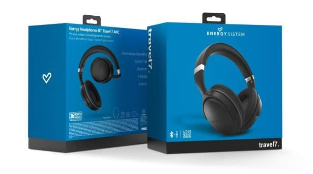 casque Energy Sistem Headphones BT Travel7 ANC (Active Noise Cancelling)
