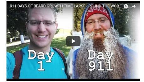 911 jours sans se raser