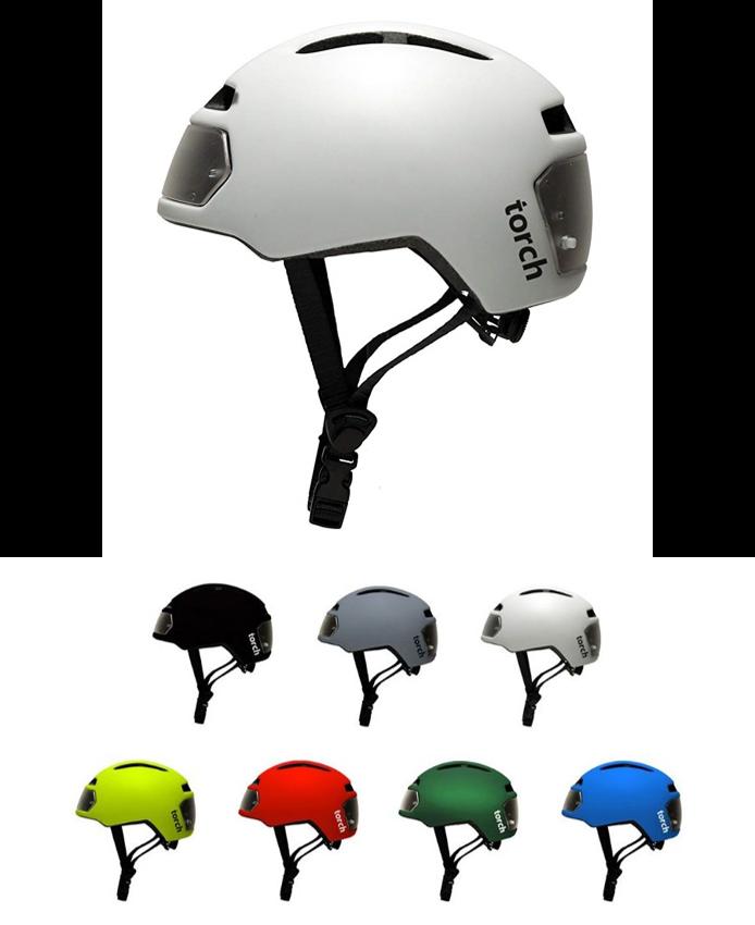 Torch T2 Casque de vélo avec éclairage intégré