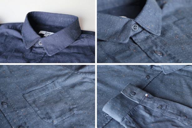 Chemise FYU modèle Montmartre Bleu Marine : tous les détails qui font la différence