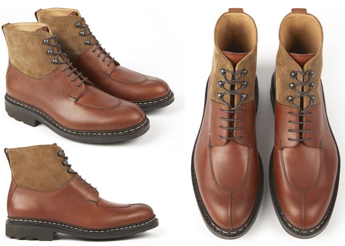 Boots homme modèle Ginkgo à 550€ couleur Cognac Ravel