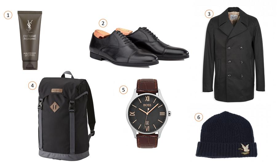 Idées cadeaux pour homme Saint-Valentin - look citadin black