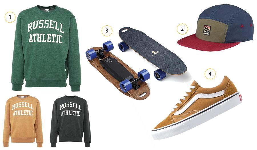 Cadeaux de saint-Valentin pour homme fan de skateboard