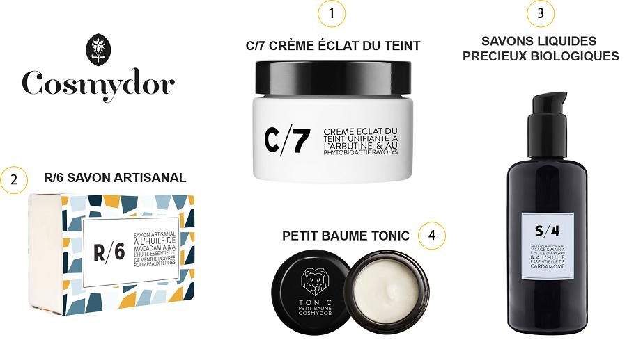 Produits cosmétiques Cosmydor fabrication Française et artisanale