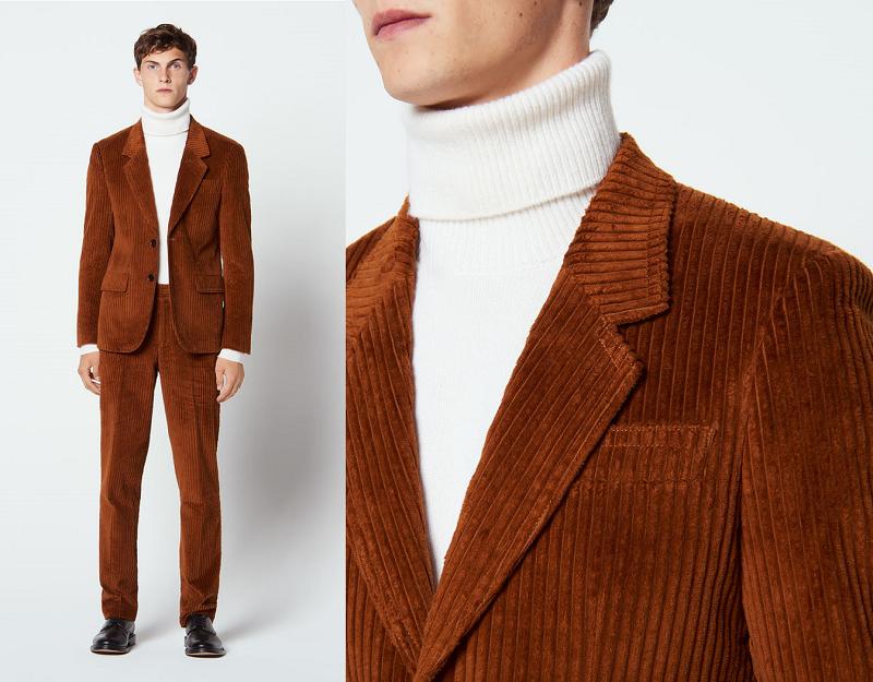 Costume Sandro Homme coupe « new classic » en velours côtelé