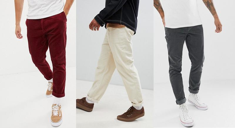 Pantalons en velours pour homme