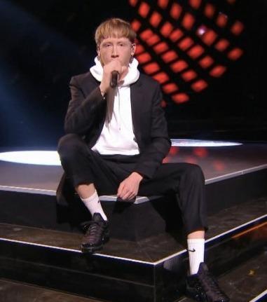 Eddy de Pretto aux Victoires de la musique 2018. Crédit photo : Oh my mag