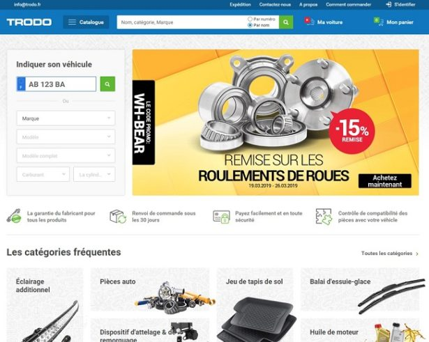 Exemple de site sur lequel acheter des pièces détachées en ligne
