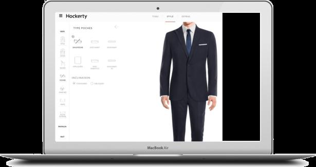 Personnalisation du costume sur mesure : veste + pantalon + gilet