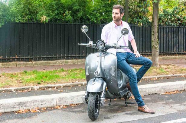 scooter électrique vintage