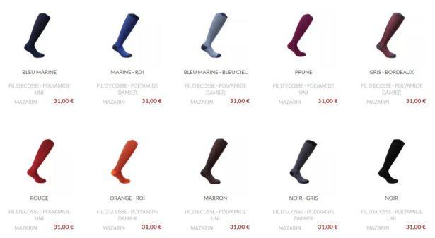 Chaussettes de contention élégantes pour homme