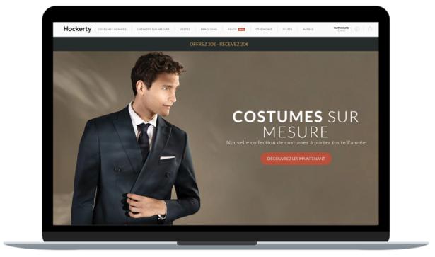 Rendez-vous sur le site Hockerty.com pour réaliser votre costume sur-mesure